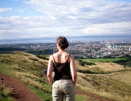 Looking out on Edinburgh, Scotland from Arthur's Seat