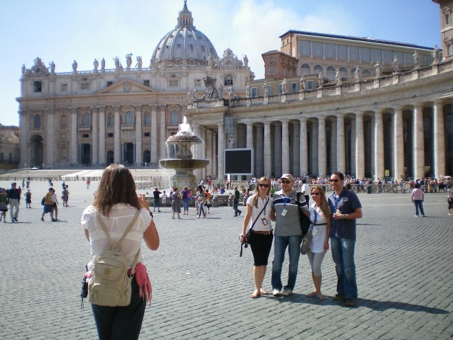 I had so many opportunities to photograph tourists at the Vatican, I almost forgot to look at the church.