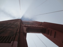 Looking up at the Bridge