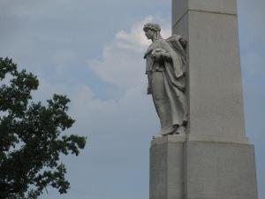 Memorial Leans Forward