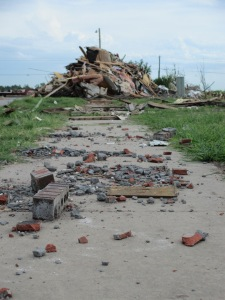 Sidewalk in Rubble