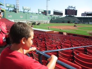 Boy at Fenway