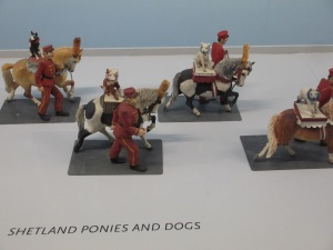 Shetland Ponies and Dogs