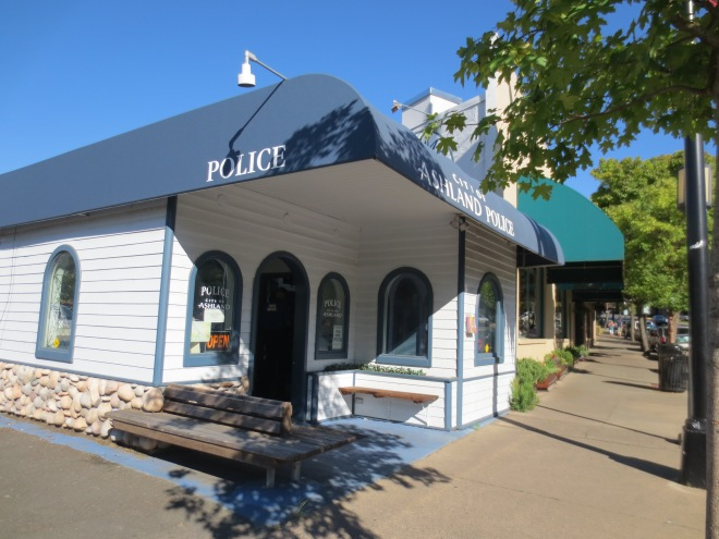 """Nothing says """"incredibly quaint small town"""" like an adorable police station. Ashland, OR"""