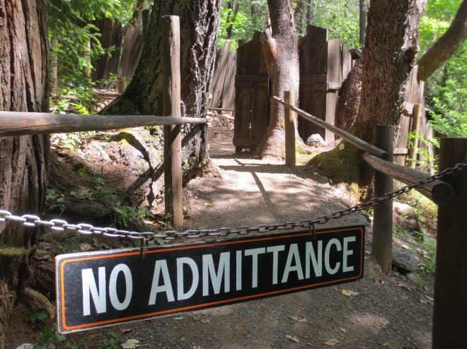 Some sections of The Oregon Vortex were off limits, even to guided tours...