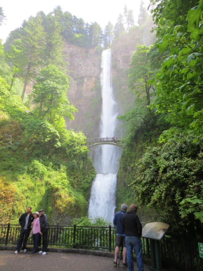 I read recently that the historic Benson Bridge at Multnomah Falls was damaged by a falling boulder. While the damage was small and sure to be repaired in time, I'm glad I saw it when I had the chance.