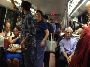 Final Stop: The racial majority on the train has swapped from black to white as we enter downtown. Had I stayed on the train, I would have seen it turn entirely white.