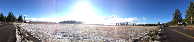 Panorama of the Snow and Lake